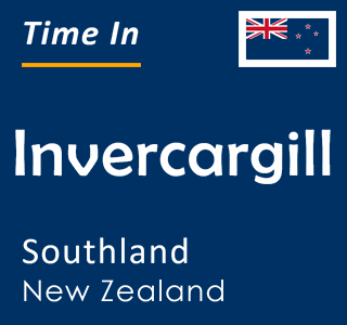 Current time in Invercargill, Southland, New Zealand