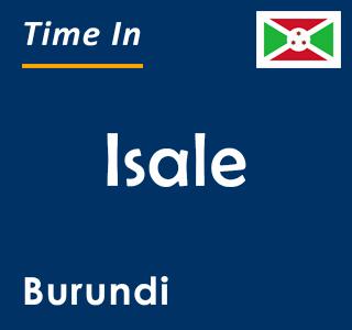 Current time in Isale, Burundi