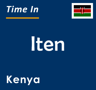 Current time in Iten, Kenya