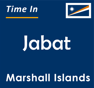 Current time in Jabat, Marshall Islands