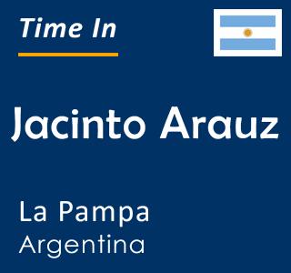Current time in Jacinto Arauz, La Pampa, Argentina