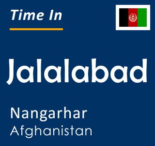Current time in Jalalabad, Nangarhar, Afghanistan