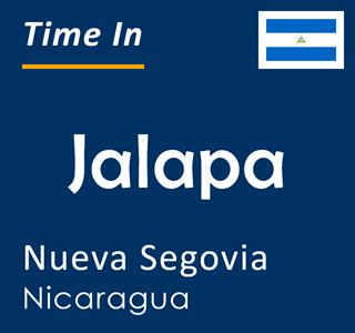 Current time in Jalapa, Nueva Segovia, Nicaragua