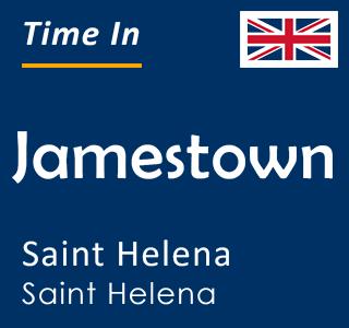 Current time in Jamestown, Saint Helena, Saint Helena