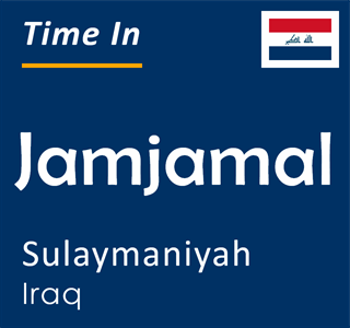 Current time in Jamjamal, Sulaymaniyah, Iraq