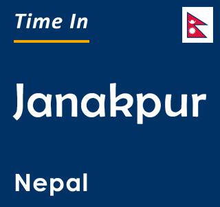 Current time in Janakpur, Nepal