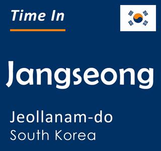 Current time in Jangseong, Jeollanam-do, South Korea