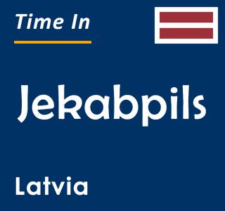 Current time in Jekabpils, Latvia