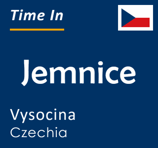 Current time in Jemnice, Vysocina, Czechia