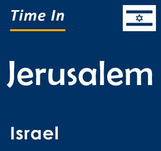 Current time in Jerusalem, Israel
