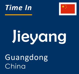 Current time in Jieyang, Guangdong, China