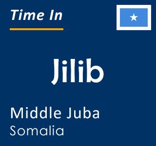 Current time in Jilib, Middle Juba, Somalia