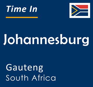 Current time in Johannesburg, Gauteng, South Africa