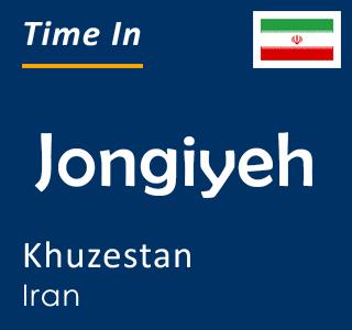 Current time in Jongiyeh, Khuzestan, Iran