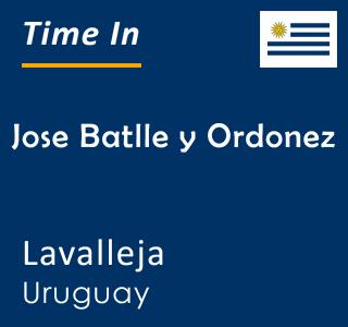 Current time in Jose Batlle y Ordonez, Lavalleja, Uruguay