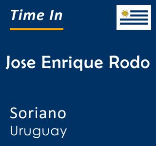 Current time in Jose Enrique Rodo, Soriano, Uruguay