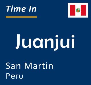 Current time in Juanjui, San Martin, Peru