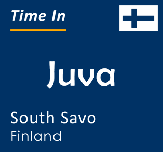 Current time in Juva, South Savo, Finland