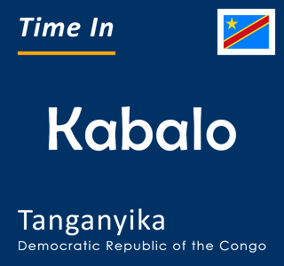 Current time in Kabalo, Tanganyika, Democratic Republic of the Congo