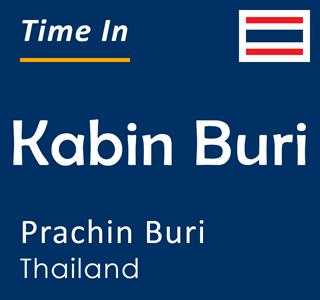 Current time in Kabin Buri, Prachin Buri, Thailand