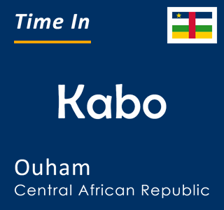 Current time in Kabo, Ouham, Central African Republic