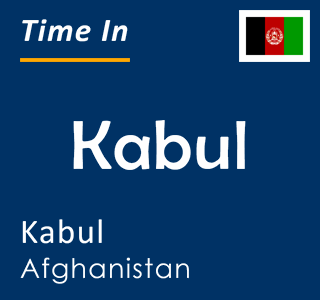 Current time in Kabul, Kabul, Afghanistan