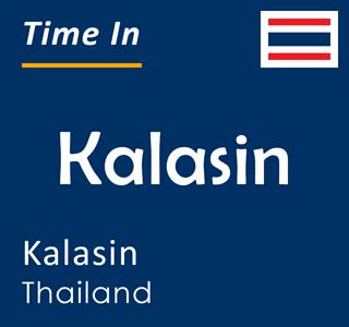 Current time in Kalasin, Kalasin, Thailand