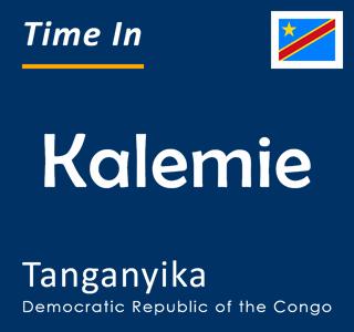 Current time in Kalemie, Tanganyika, Democratic Republic of the Congo