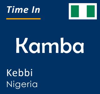 Current time in Kamba, Kebbi, Nigeria
