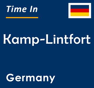 Current time in Kamp-Lintfort, Germany