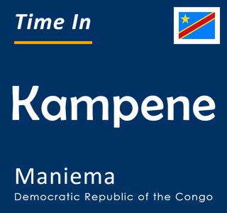 Current time in Kampene, Maniema, Democratic Republic of the Congo