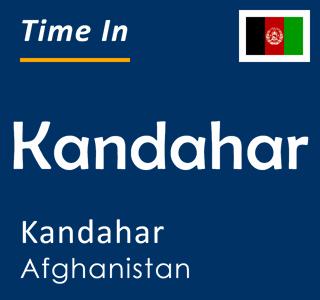 Current time in Kandahar, Kandahar, Afghanistan