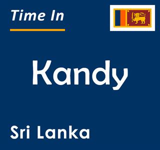 Current time in Kandy, Sri Lanka