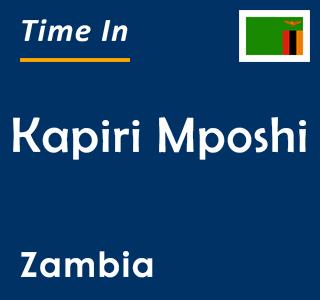 Current time in Kapiri Mposhi, Zambia