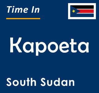 Current time in Kapoeta, South Sudan