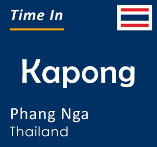 Current time in Kapong, Phang Nga, Thailand