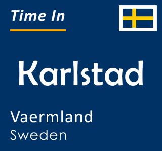 Current time in Karlstad, Vaermland, Sweden