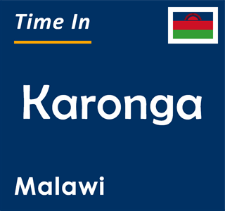 Current time in Karonga, Malawi