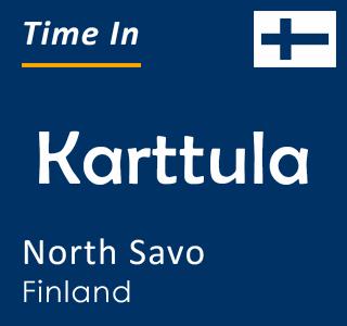 Current time in Karttula, North Savo, Finland