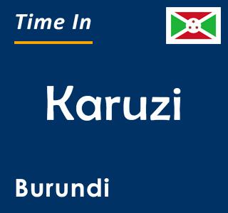 Current time in Karuzi, Burundi