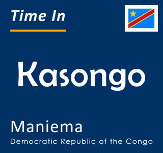 Current time in Kasongo, Maniema, Democratic Republic of the Congo