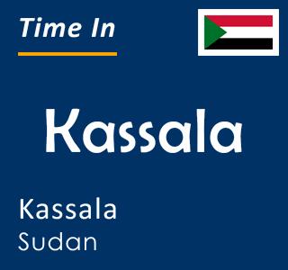 Current time in Kassala, Kassala, Sudan