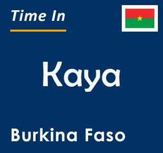 Current time in Kaya, Burkina Faso
