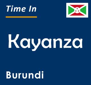Current time in Kayanza, Burundi