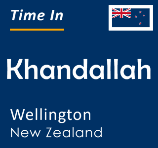 Current time in Khandallah, Wellington, New Zealand