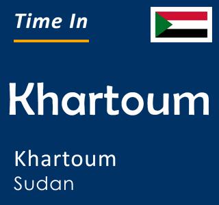 Current time in Khartoum, Khartoum, Sudan