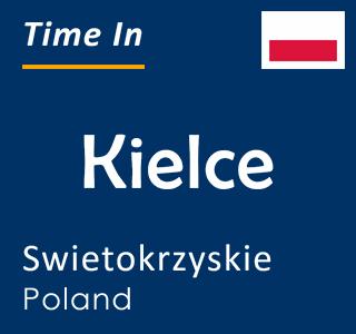 Current time in Kielce, Swietokrzyskie, Poland