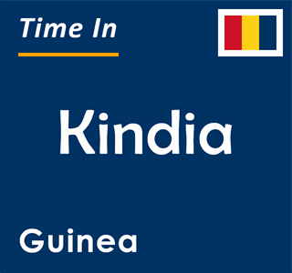 Current time in Kindia, Guinea