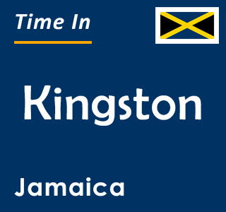 Current time in Kingston, Jamaica