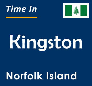 Current time in Kingston, Norfolk Island